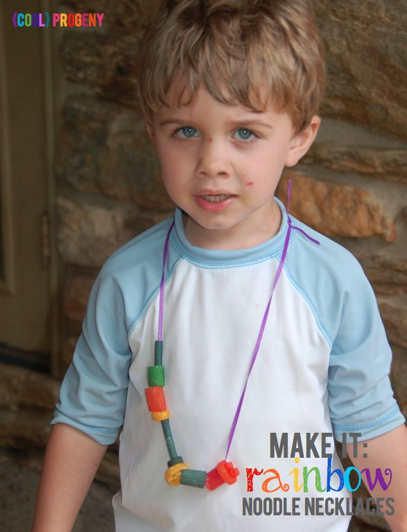 Make it! Rainbow noodle necklaces - (cool) progeny
