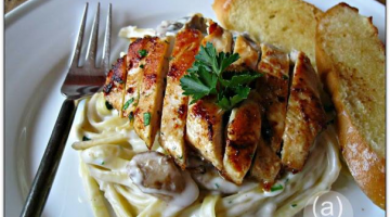 Easy Weeknight Meals - Chicken Mushroom Fettuccine Alfredo, (cool) progeny