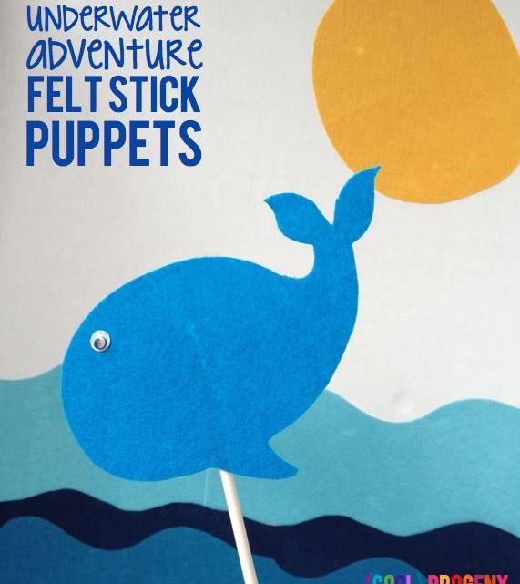 Underwater Adventure Felt Stick Puppets - (cool) progeny