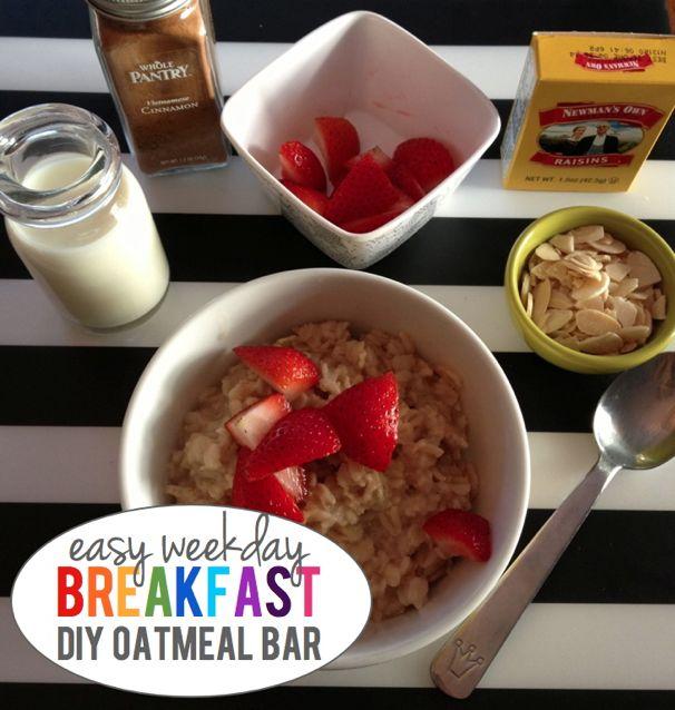Easy Weekday Breakfasts, DIY Oatmeal Bar - (cool) progeny