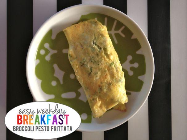 Easy Weekday Breakfasts, Broccoli Pesto Fritatta - (cool) progeny