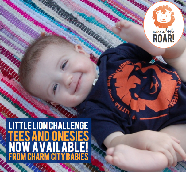 Little Lion Challenge T-Shirts from Charm City Babies are now on sale! Adults can rock them, too! #littlelionchallenge #makeadifference