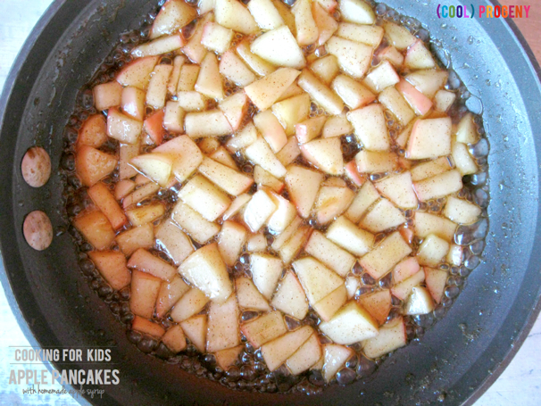 Cooking for Kids: Apple Pancakes with Apple Syrup - (cool) progeny