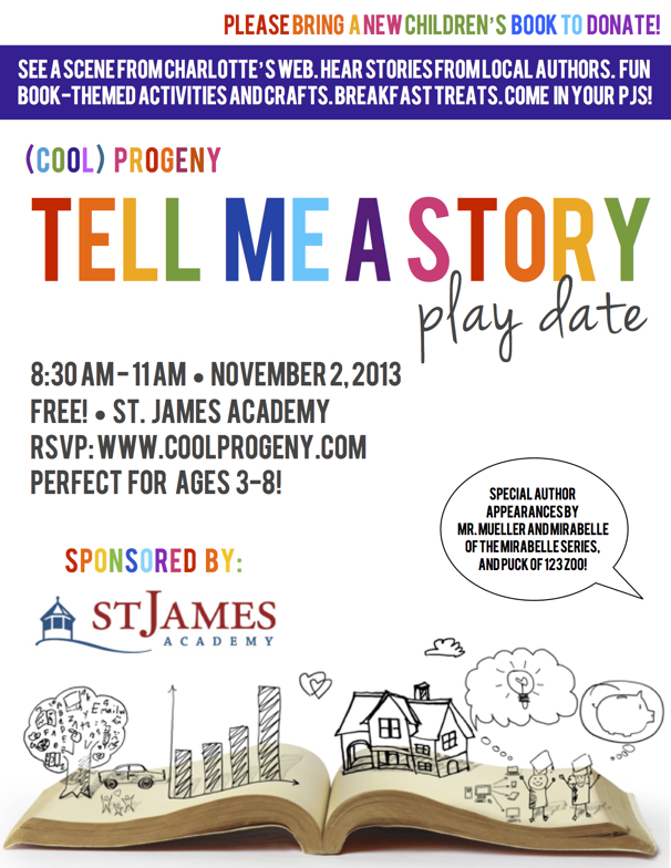 (cool) progeny Tell Me a Story Play Date at St. James Academy