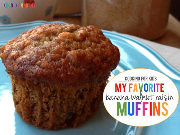 Banana Walnut Raisin Muffins - (cool) progeny