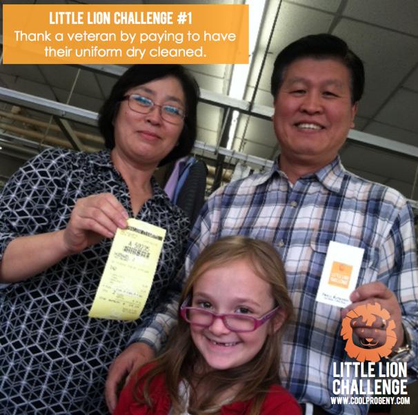 Little Lion Challenge #1: Thank a Veteran