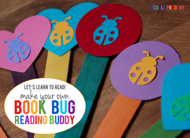 Let's Learn to Read! Make a Reading Bug Book Buddy - (cool) progeny