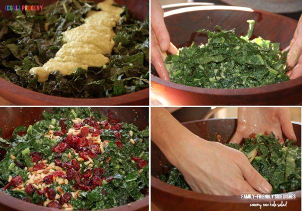 Family Friendly Sides: Creamy Raw Kale Salad - (cool) progeny
