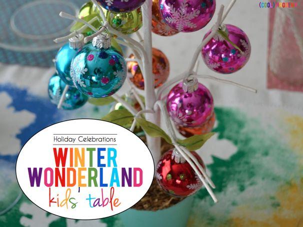 Winter Wonderland Kids Table - (cool) progeny