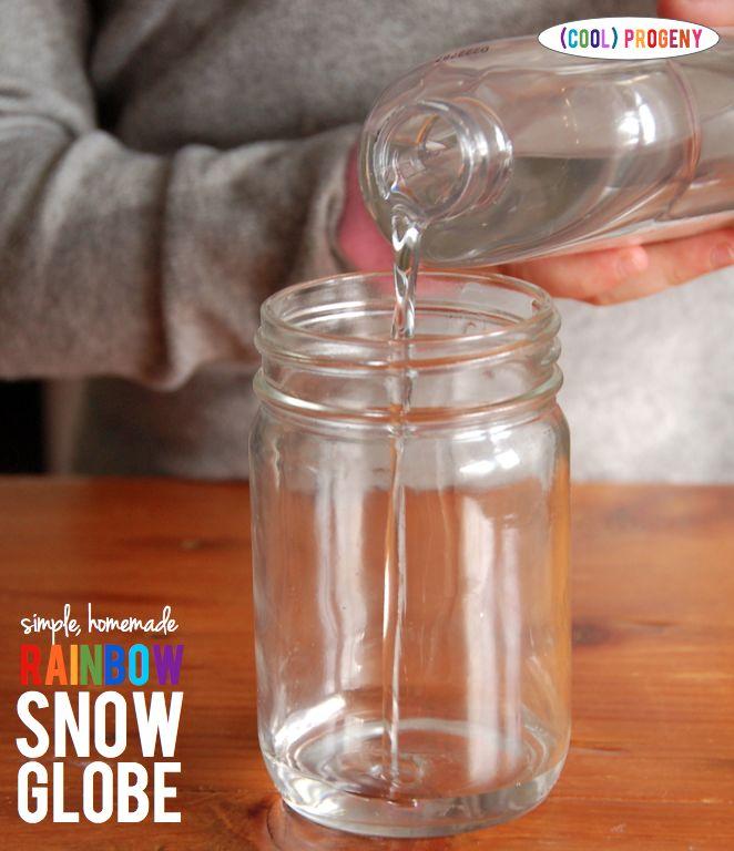 How to Make a Rainbow Snow Globe - (cool) progeny