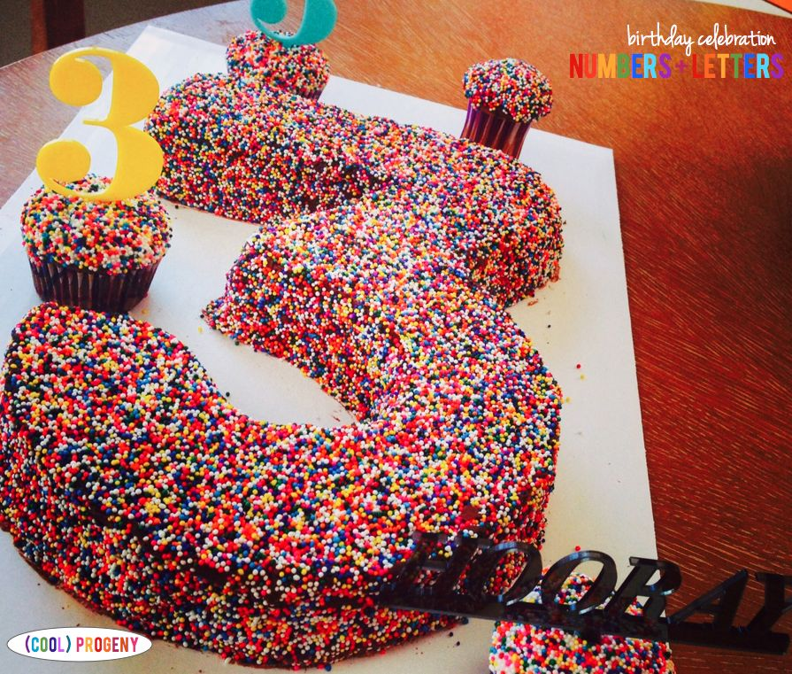Numbers and Letters Birthday Celebration - (cool) progeny