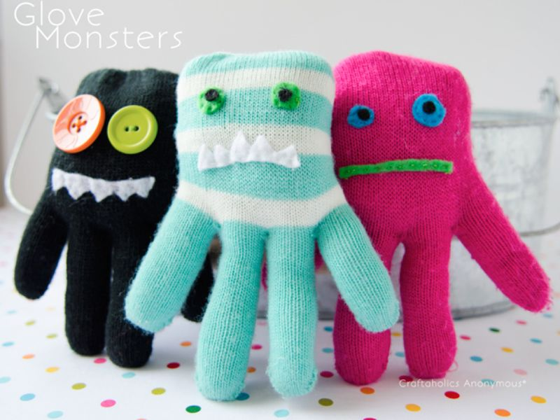 Glove Monsters from Craftaholics Anonymous