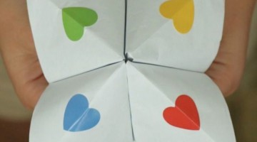 Kindness Cootie Catcher - Coffee Cups and Crayons
