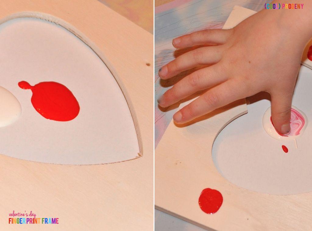 Valentine's Day Craft: Finger Print Frames - (cool) progeny