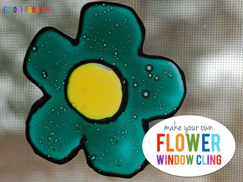 DIY Flower Window Clings - (cool) progeny