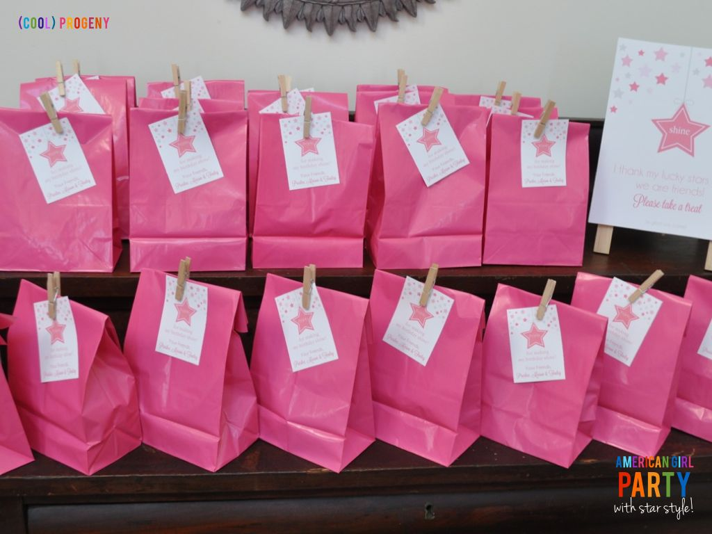 In Style Party Favors: American Girl Birthday Party With Lots Of Star Style