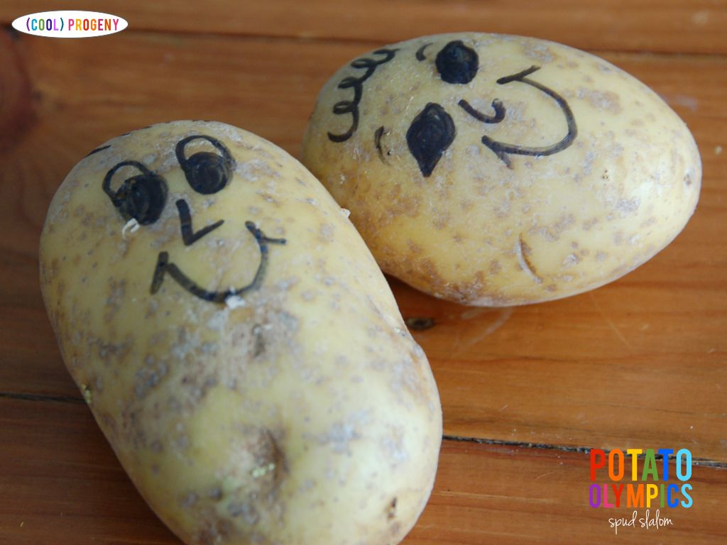potato olympics: spud slalom - (cool) progeny
