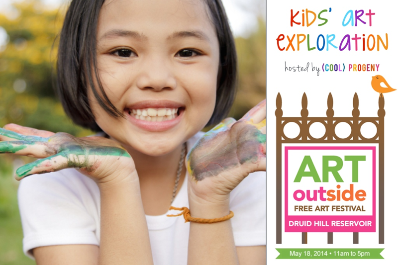 (cool) progeny presents the kids art exploration tent at Art Outside Maryland