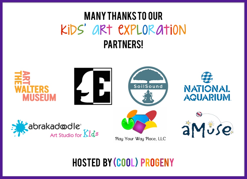 Kids Art Exploration Partners - Art Outside - (cool) progeny