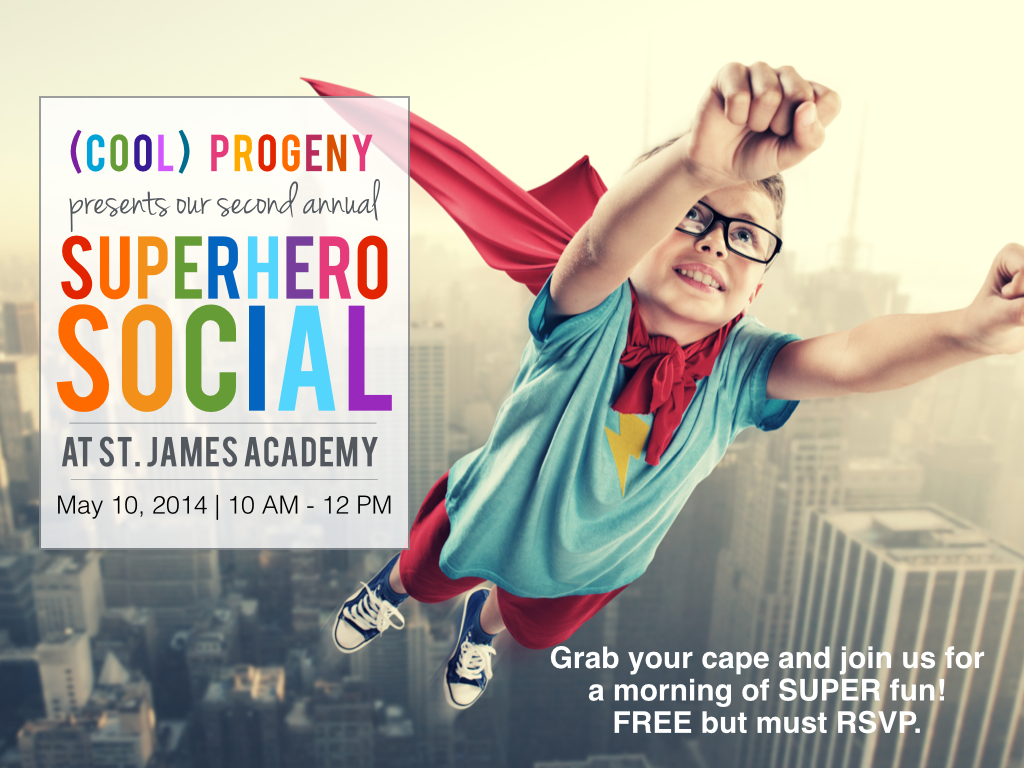 (cool) progeny superhero social at st. james academy - (cool) progeny