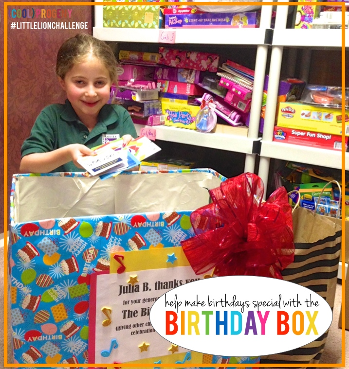How to Help the Birthday Box - (cool) progeny #littlelionchallenge