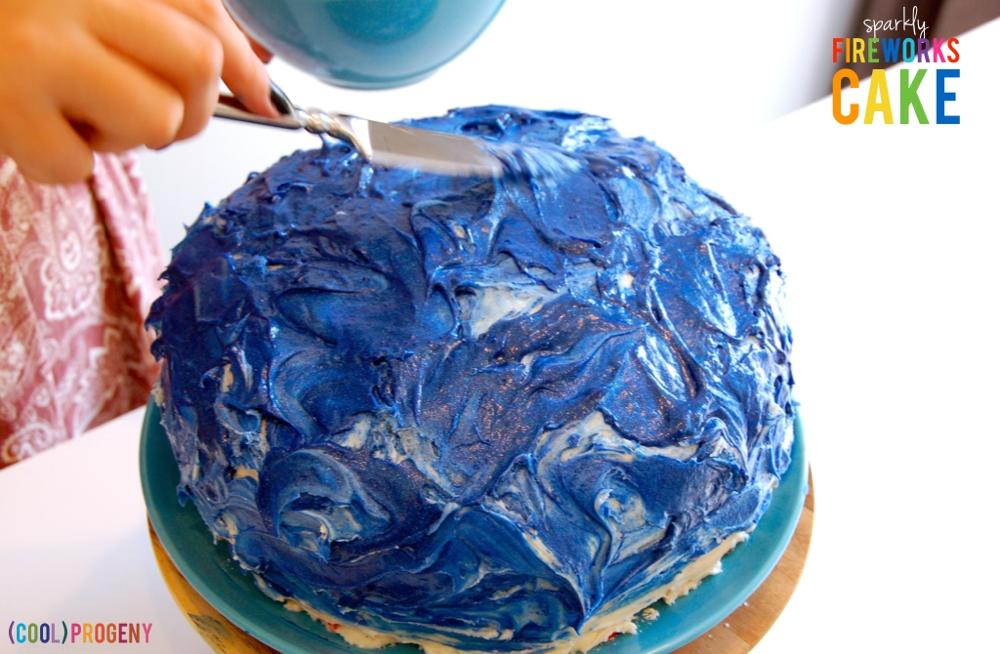Tie-Dyed Fireworks Cake