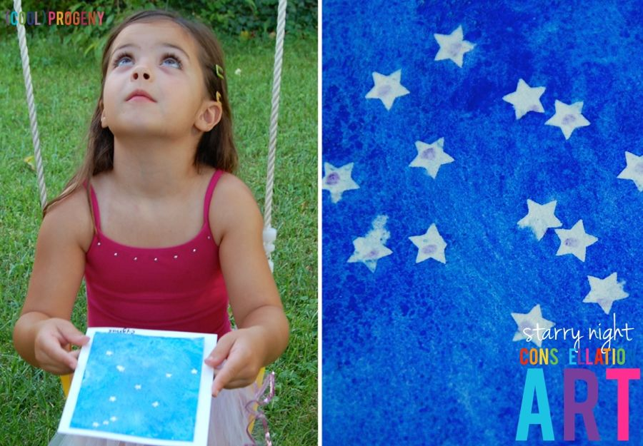 DIY Starry Night Constellation Art Cards - (cool) progeny