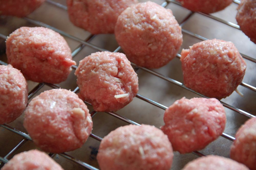 mini meatballs with tangy tomato sauce - (cool) progeny