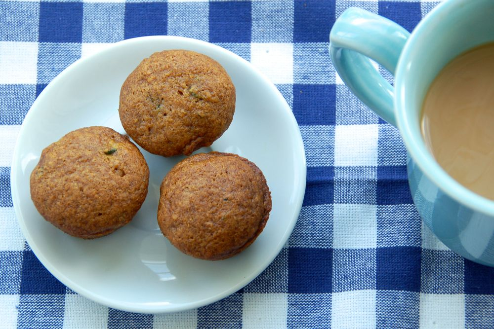 pumpkin zucchini mini-muffins - (cool) progeny #eggfree