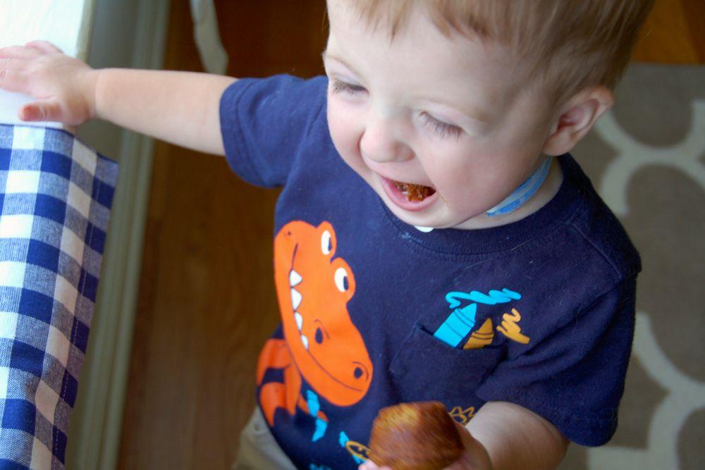 pumpkin zucchini mini-muffins - (cool) progeny #eggfree