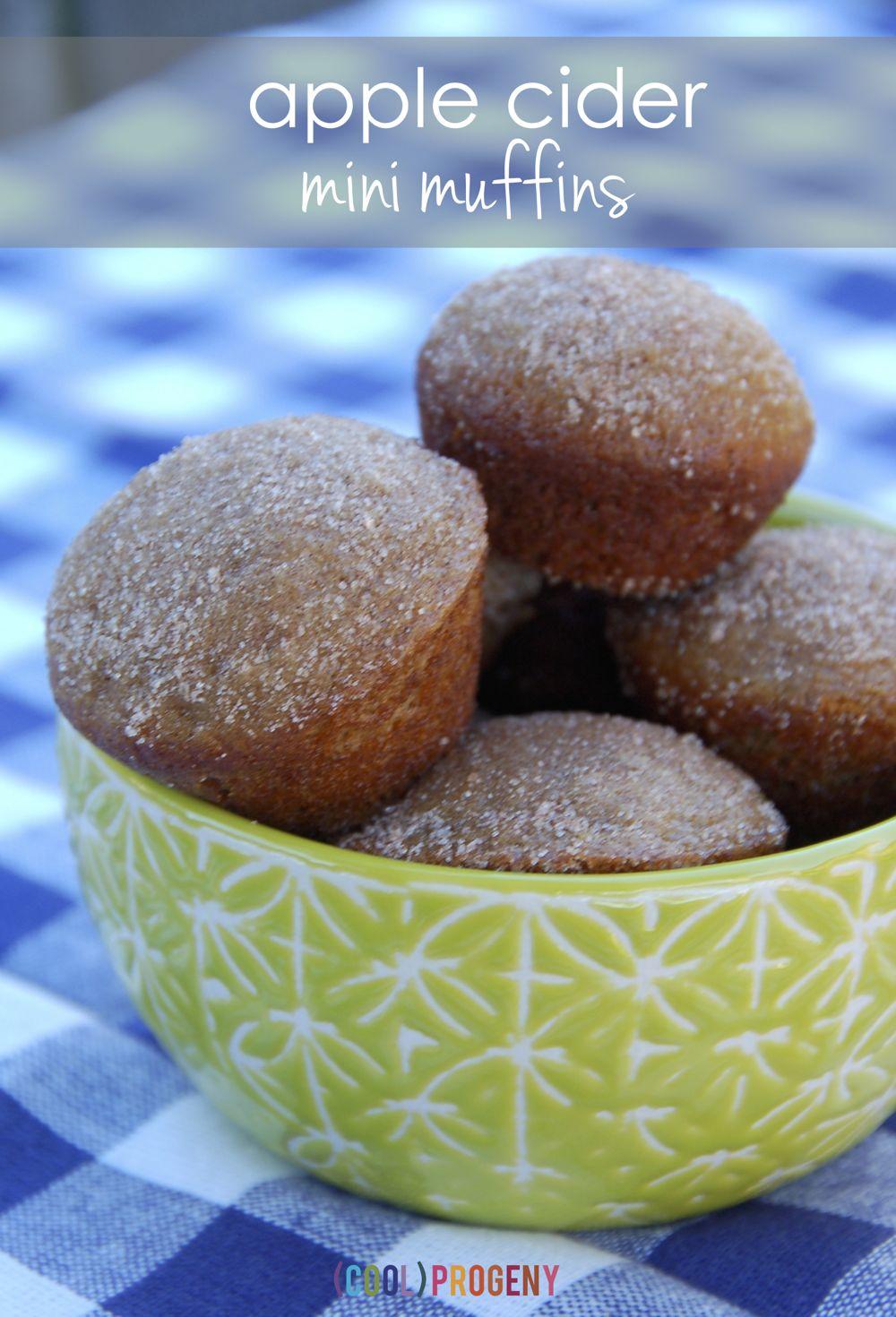 Apple Cider Mini Muffins - (cool) progeny