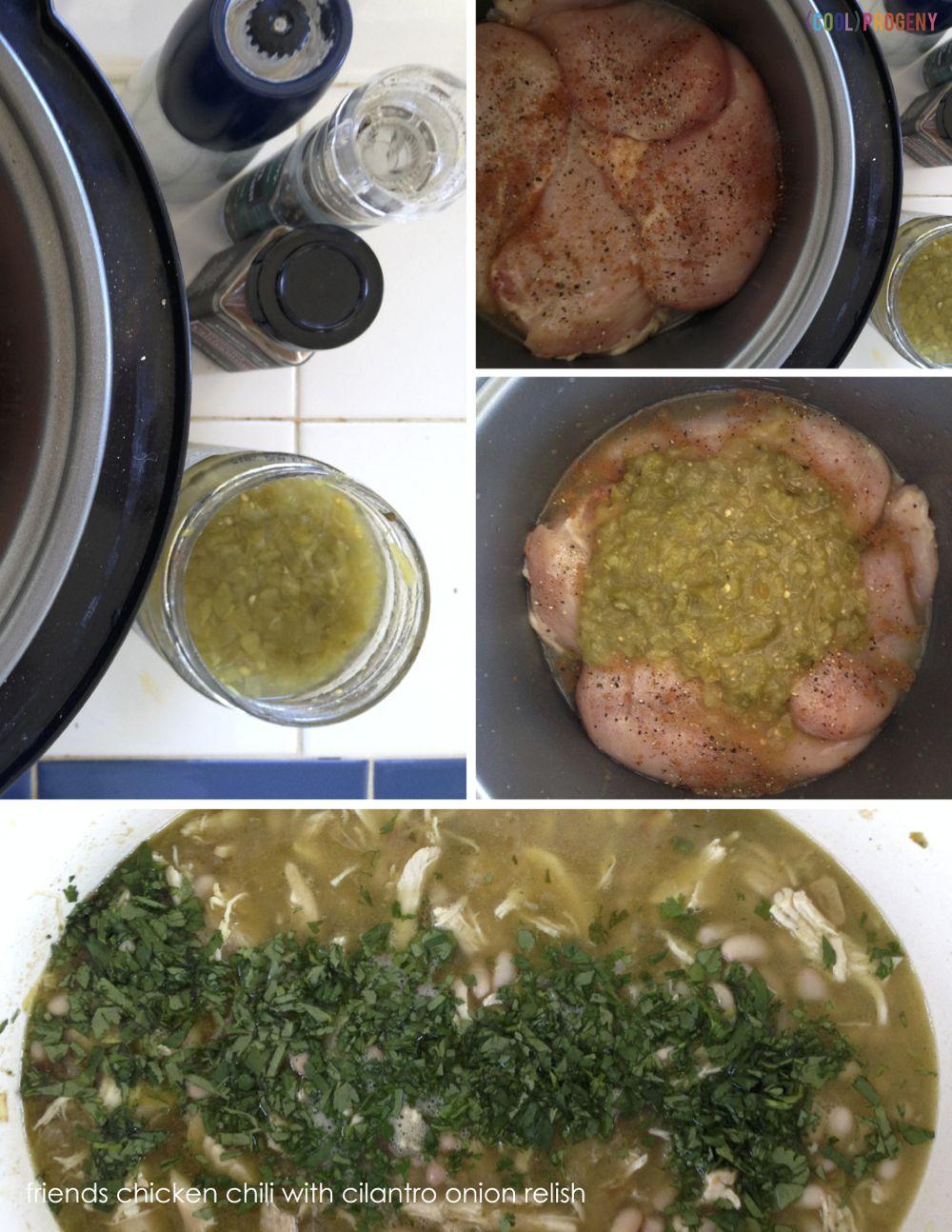Friends Chicken Chili with Cilantro Onion Relish - (cool) progeny