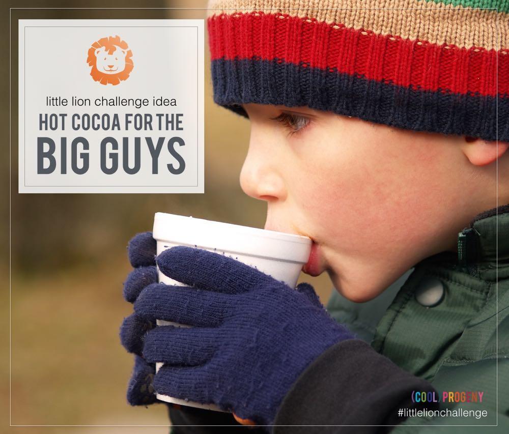 Hot Cocoa for the Big Guys - #LittleLionChallenge