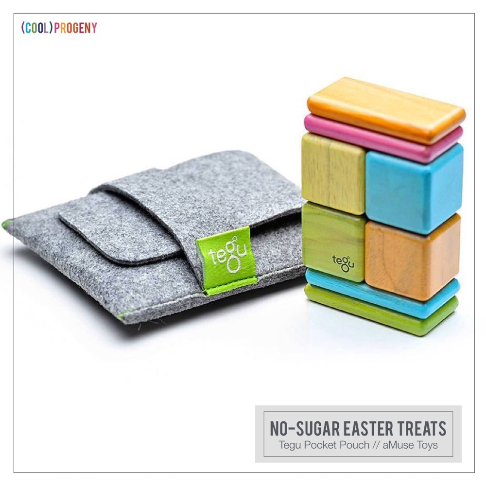 Easter Treats Without the Sweet:: Pastel Tegu Pocket Pouch, aMuse Toys
