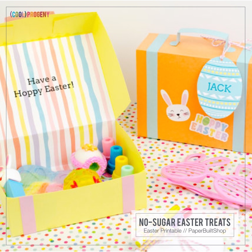Easter Treats Without the Sweet: Easter Printables, Paper Built Shop
