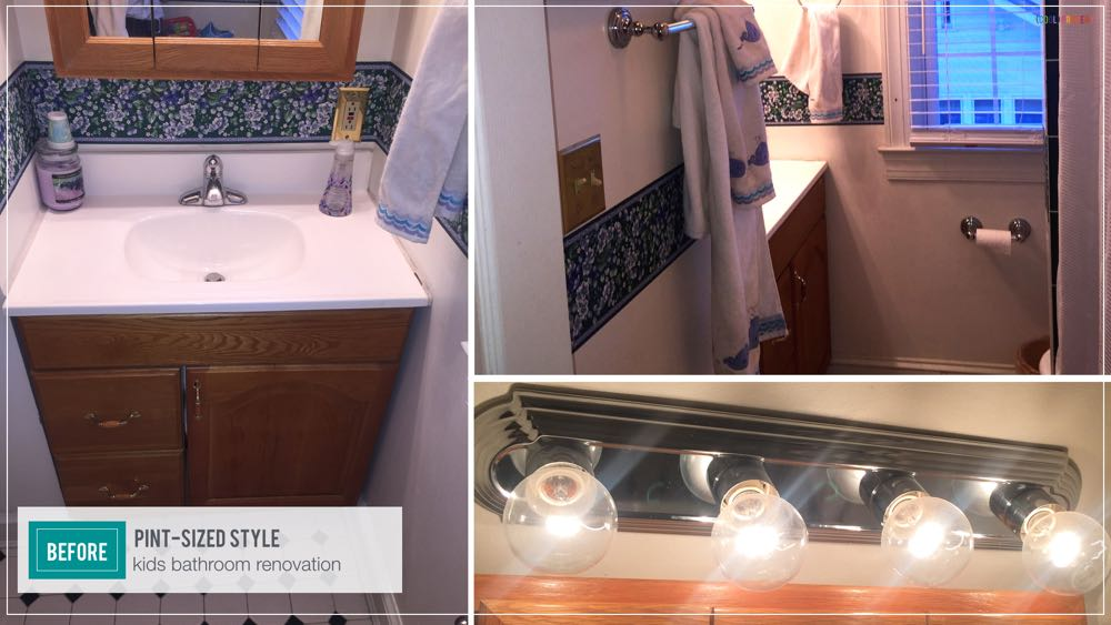 Pint Sized Style - Kids Bathroom Renovation under $400 - (cool) progeny