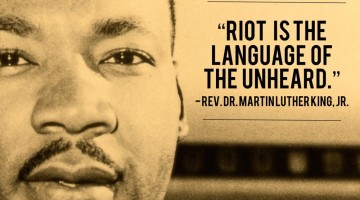 riot is the language of the unheard. how to help the unheard find a better voice. - (cool) progeny