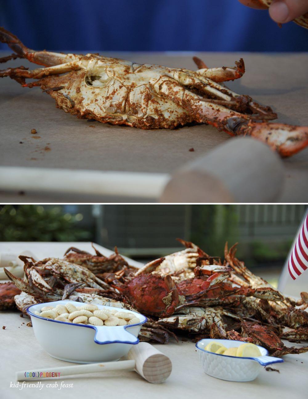 Kid-Friendly Crab Feast - (cool) progeny