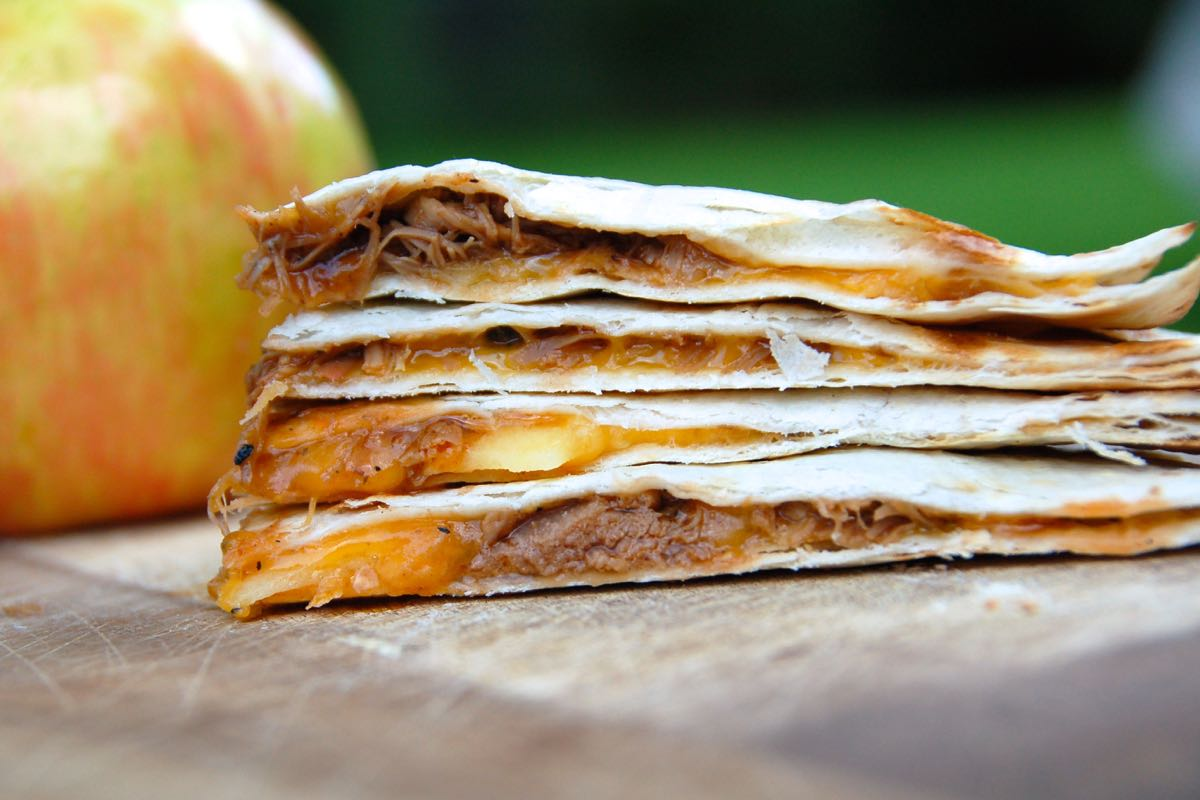 BBQ Pork and Apple Grilled Quesadilla - (cool) progeny