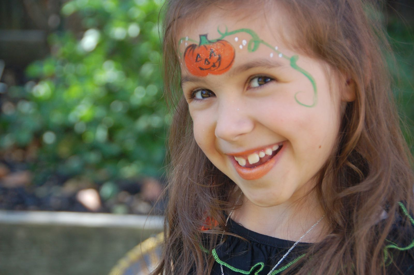 pumpkin princess halloween facepaint 7
