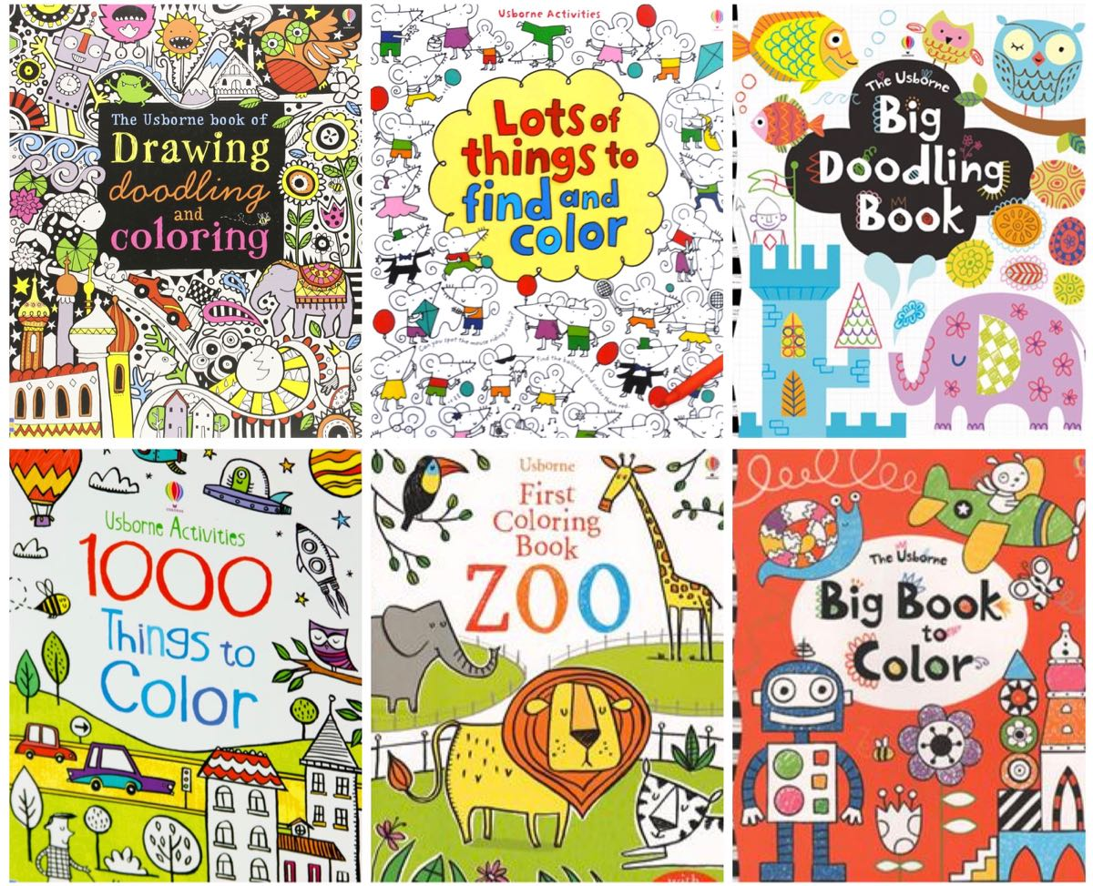 Usborne Coloring Book Drive - (cool) progeny