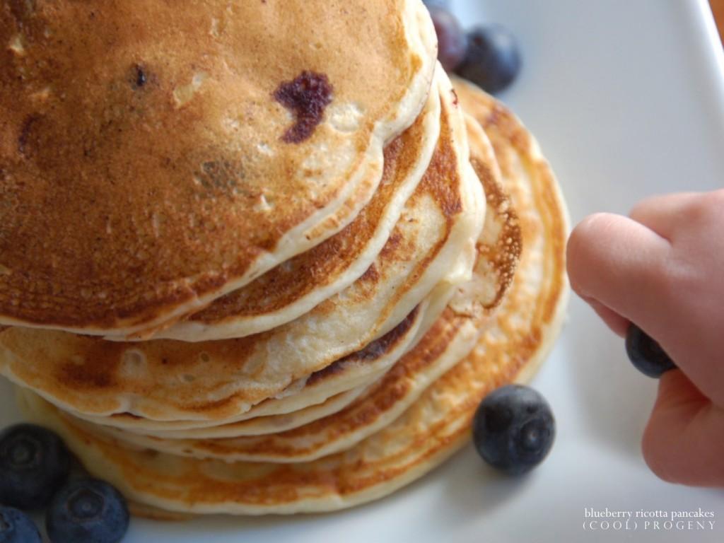 blueberry ricotta pancakes - (cool) progeny