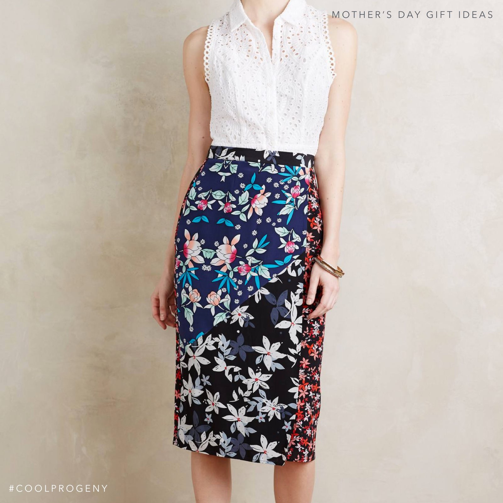 Mother's Day Gift Idea - (cool) progeny - Silk Skirt available from Anthropologie