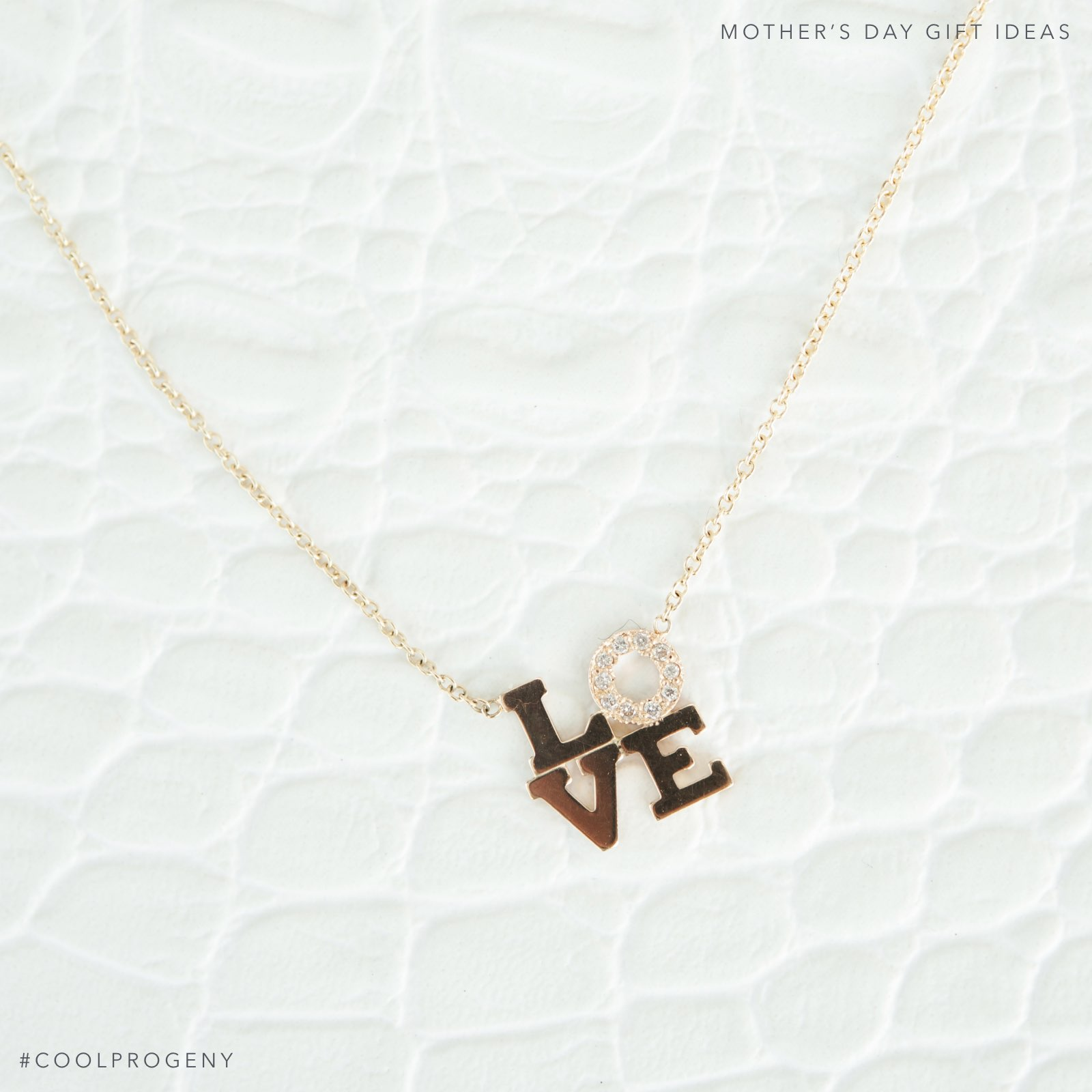Mother's Day Gift Idea - (cool) progeny - Love Necklace, available from Radcliffe Jewelers