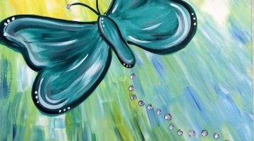 Green Butterfly created by The Painted Palette - (cool) progeny