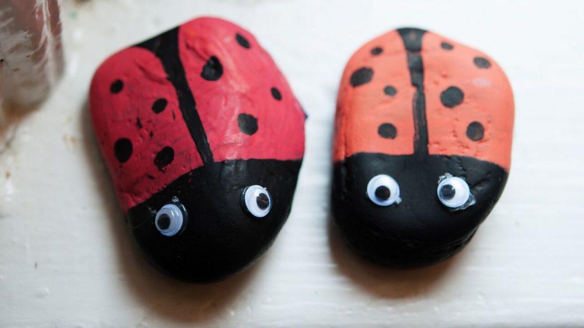 summer crafts: ladybug rocks - (cool) progeny