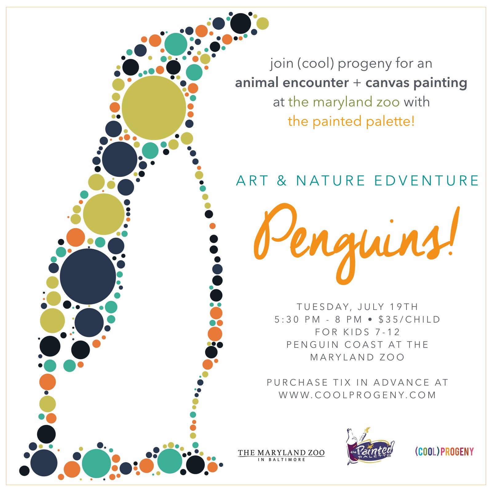 art + nature edventure: penguins! - (cool) progeny