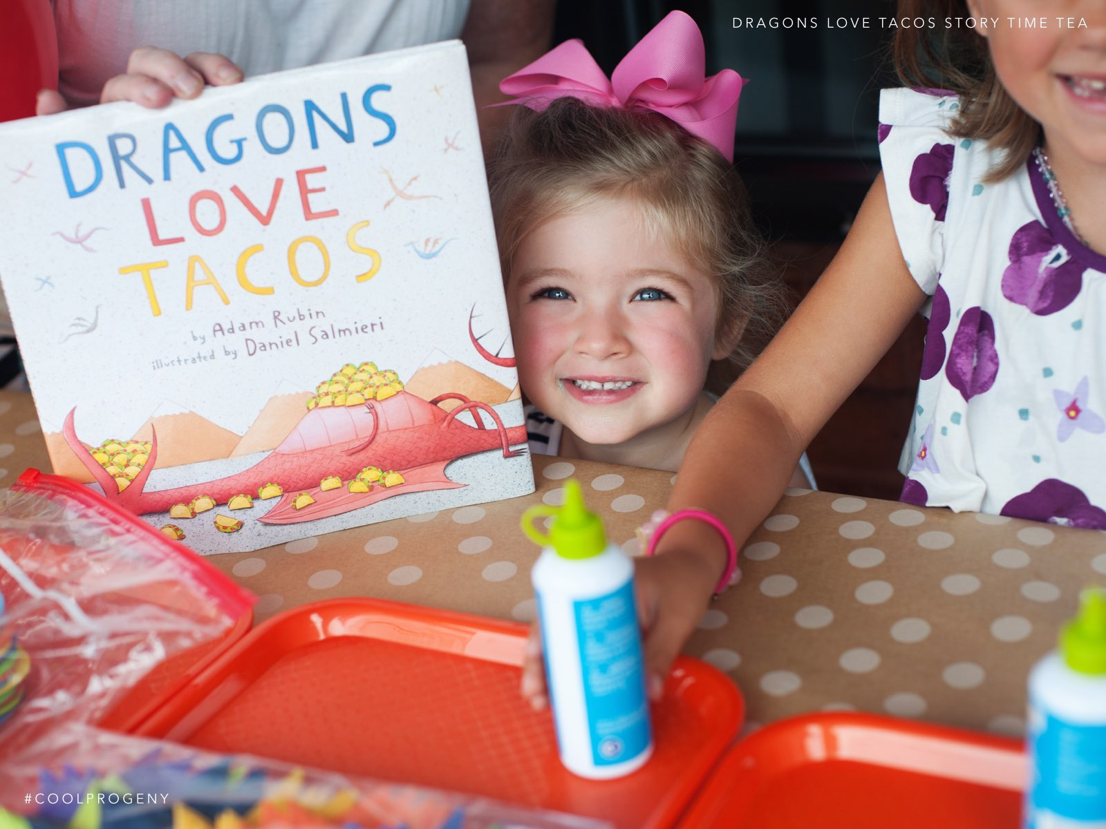 Dragons Love Tacos Story Time Tea - (cool) progeny, photo by Laura Black
