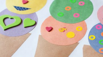 Summer Crafts: Ice Cream Sticker Sundae - (cool) progeny