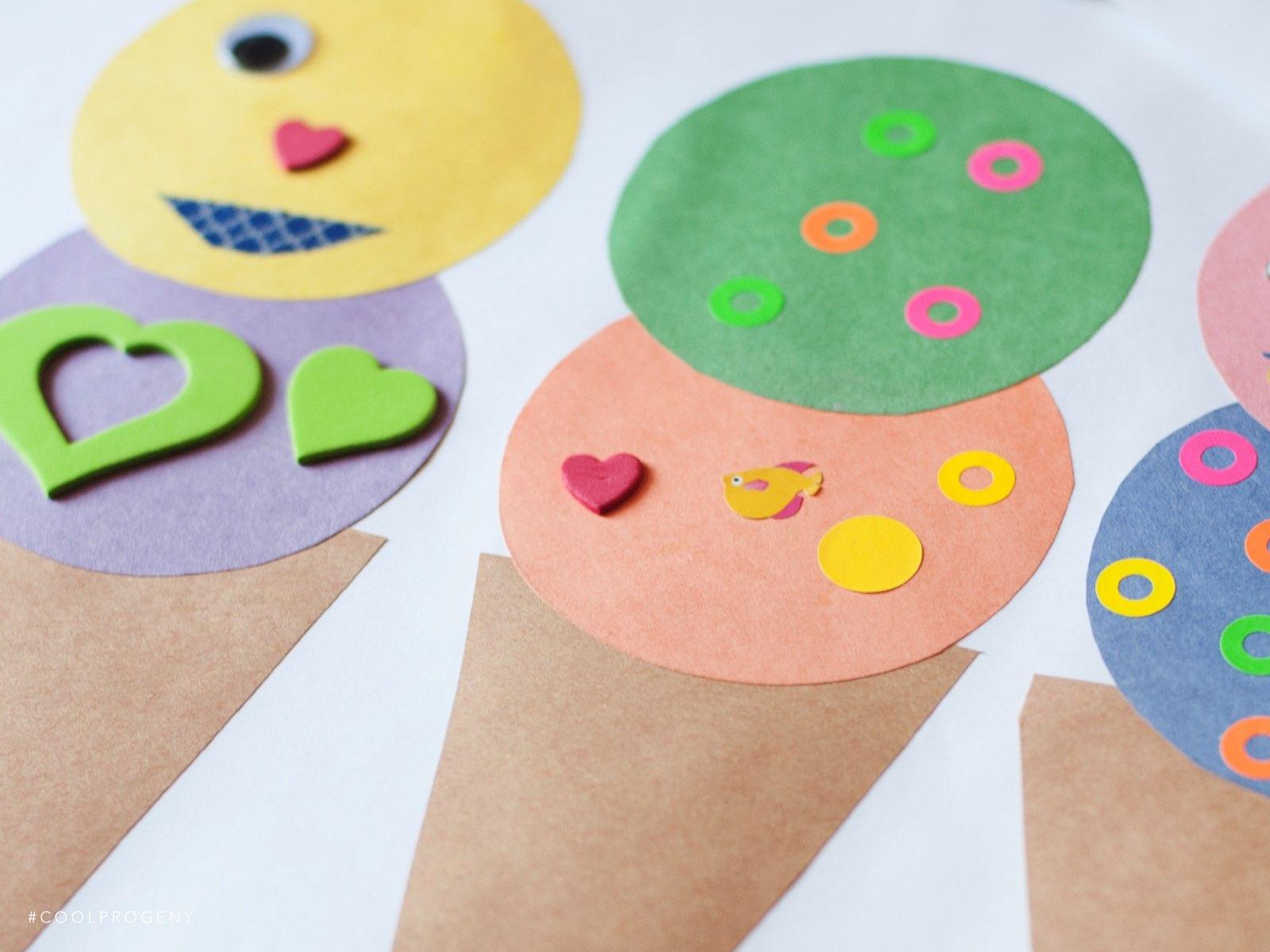 Summer Crafts: Ice Cream Sticker Sundae - (cool) progeny